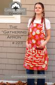 The Gathering Apron sewing pattern from Cotton Street Commons