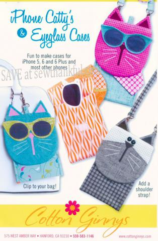 Phone Catty's & Eyeglass Cases sewing pattern from Cotton Ginnys