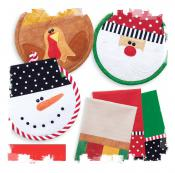 INVENTORY REDUCTION...Happy Holidays Potholders & Tea Towels sewing pattern from Cotton Ginnys 2