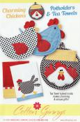 INVENTORY REDUCTION...Charming Chickens Potholders & Tea Towels sewing pattern from Cotton Ginnys