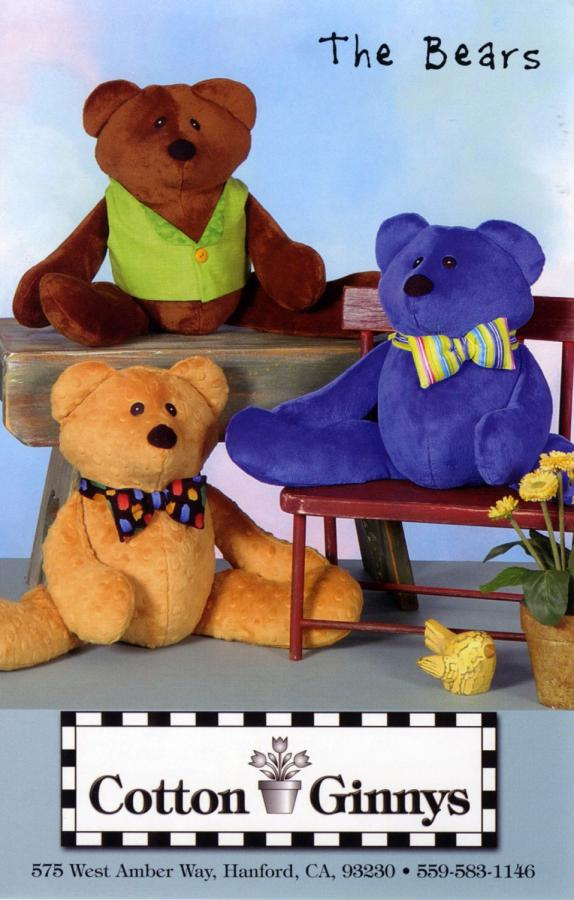 The Bears sewing pattern from Cotton Ginnys
