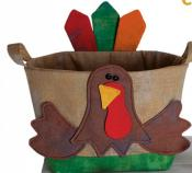 INVENTORY REDUCTION...Handy Baskets Chicken and Turkey sewing pattern from Cotton Ginnys 2