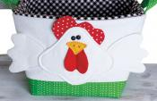 INVENTORY REDUCTION...Handy Baskets Chicken and Turkey sewing pattern from Cotton Ginnys 3