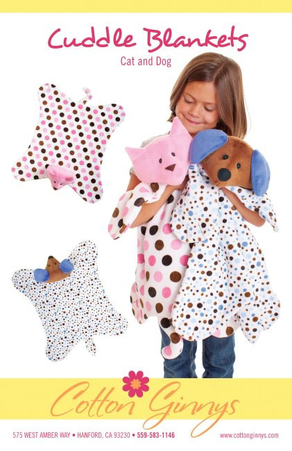 Cat Amp Dog Cuddle Blankets Sewing Pattern From Cotton Ginnys