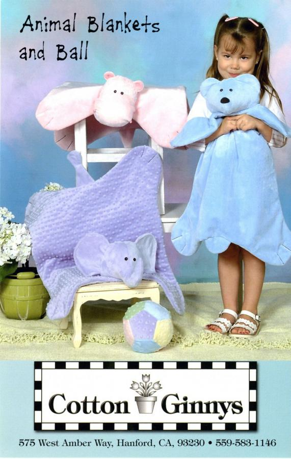 Snuggable Animal Blankets & Ball pattern from Cotton Ginnys
