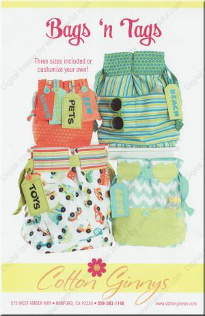 INVENTORY REDUCTION...Bags N Tags sewing pattern from Cotton Ginnys