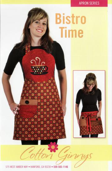 Bistro Time Apron pattern from Cotton Ginnys