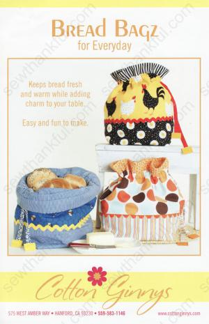 Bread Bagz for Everyday sewing pattern from Cotton Ginnys