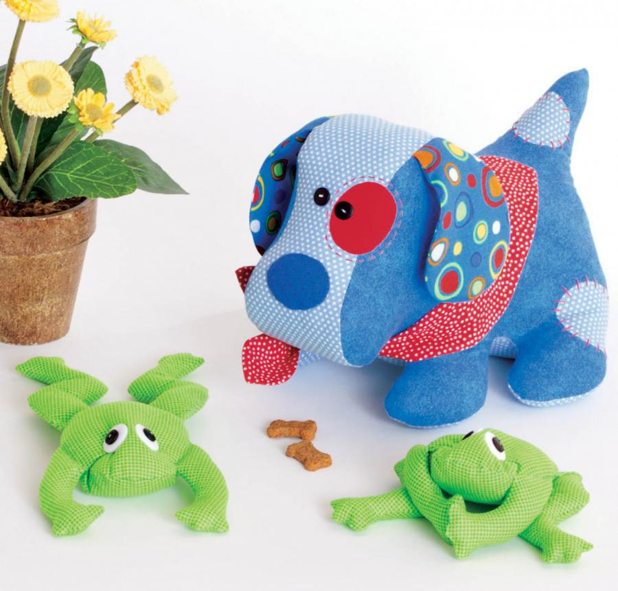 Love Puppy & Little Frog Friend pattern from Cotton Ginnys