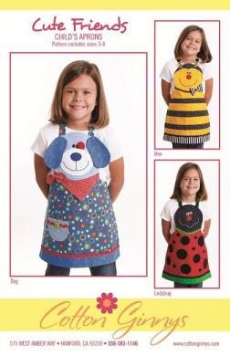 Cute Friends Aprons (children's) apron sewing pattern from Cotton Ginnys