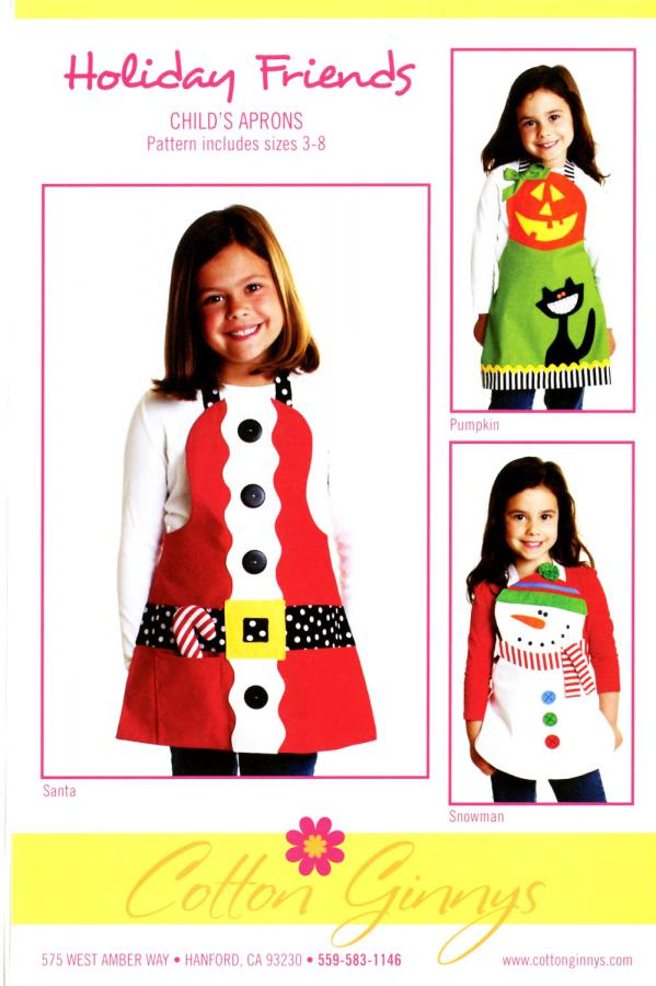 Holiday Friends apron sewing pattern from Cotton Ginnys