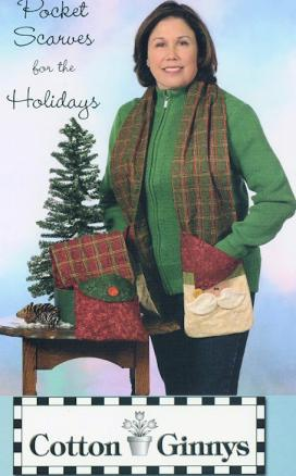 INVENTORY REDUCTION...Pocket Scarves for the Holidays pattern from Cotton Ginnys