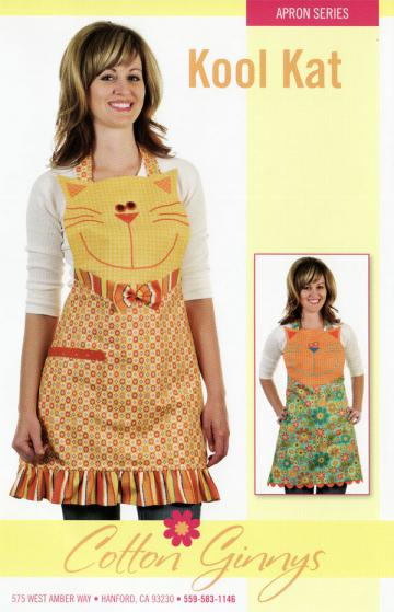 INVENTORY REDUCTION...Kool Kat Apron pattern from Cotton Ginnys