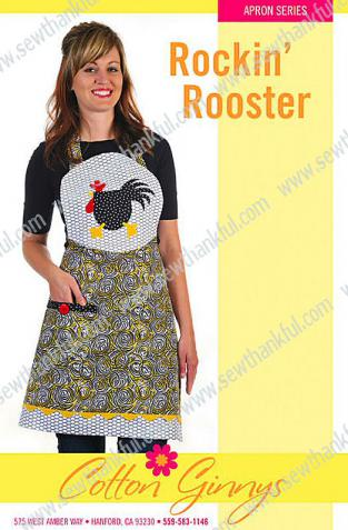 Rockin' Rooster Apron pattern from Cotton Ginnys