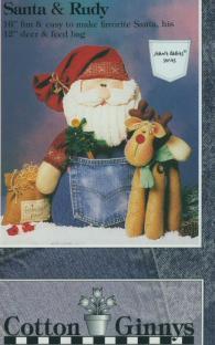 Santa & Rudy pattern from Cotton Ginnys