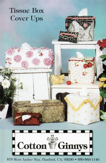 INVENTORY REDUCTION...Tissue Box Cover Ups pattern from Cotton Ginnys