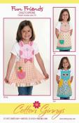 INVENTORY REDUCTION...Fun Friends Apron sewing pattern from Cotton Ginnys