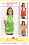 INVENTORY REDUCTION...Jungle Friends Apron sewing pattern from Cotton Ginnys