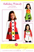 INVENTORY REDUCTION...Holiday Friends apron sewing pattern from Cotton Ginnys
