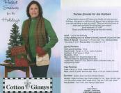 INVENTORY REDUCTION...Pocket Scarves for the Holidays pattern from Cotton Ginnys 2