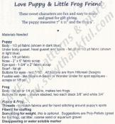 Love Puppy & Little Frog Friend pattern from Cotton Ginnys 2