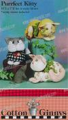Purrfect Kitty stuffed kitty + catnip mouse pattern from Cotton Ginnys