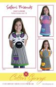 Safari Friends apron sewing pattern from Cotton Ginnys