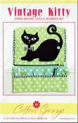 INVENTORY REDUCTION...Vintage Kitty Sewing Machine Cover & Organizer Mat sewing pattern from Cotton Ginnys