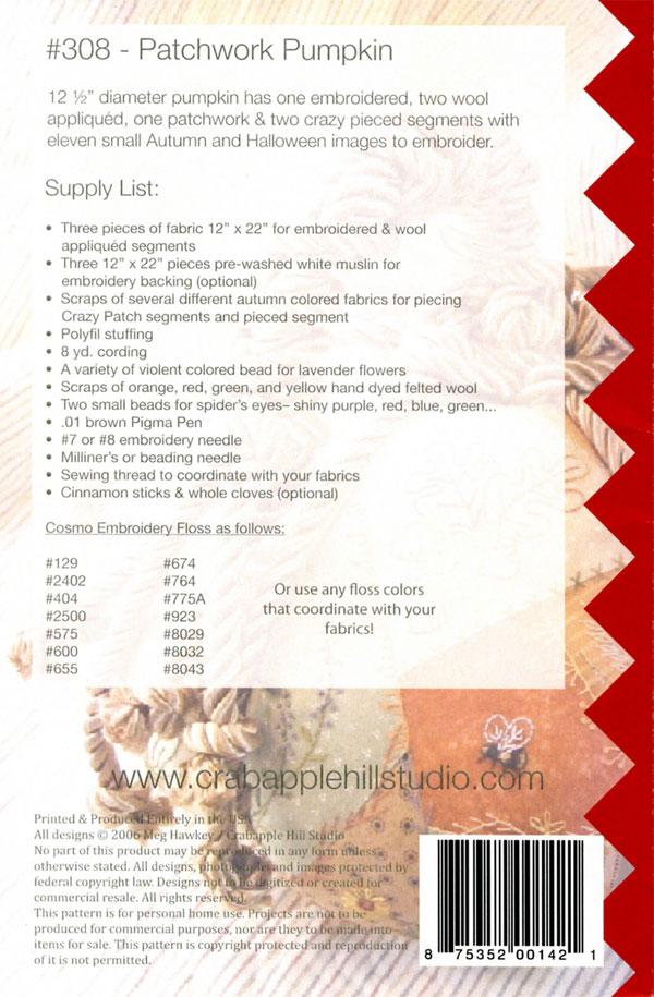 Patchwork-Pumpkin-sewing-pattern-Crabapple-Hill-Designs-back