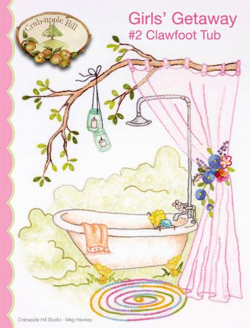 Girls' Getaway #2 Clawfoot Tub sewing pattern from Crabapple Hill Designs