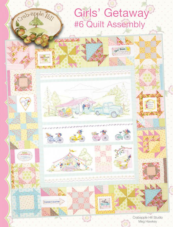 Girls' Getaway 6 Assembly Quilt sewing pattern from Crabapple Hill Designs