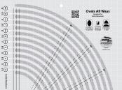 Ovals All Ways quilt ruler from Creative Grids 1
