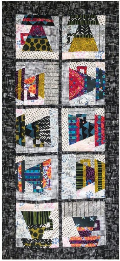 Coffee Break Table Runner sewing pattern Cut Loose Press