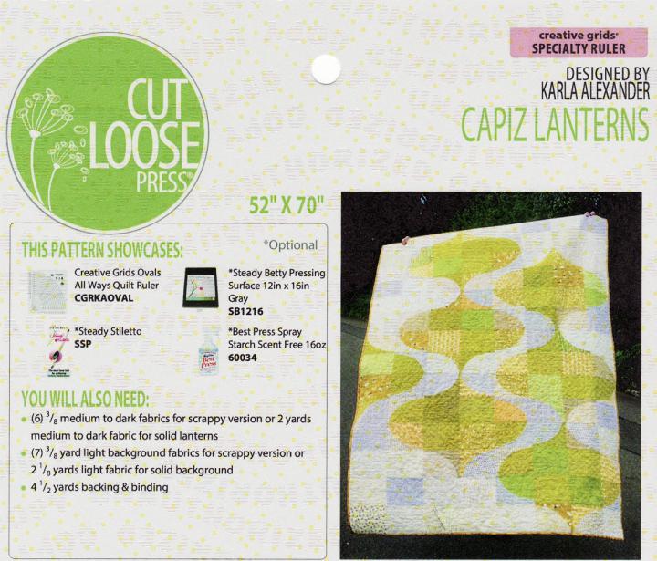 Capiz Lanterns quilt sewing pattern Cut Loose Press