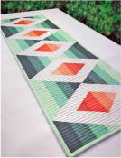 Aztec Diamond Table Runner sewing pattern Cut Loose Press 2