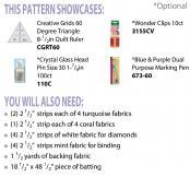 Aztec Diamond Table Runner sewing pattern Cut Loose Press 1