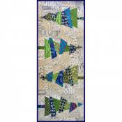 Crazy Christmas Trees Table Runner sewing pattern Cut Loose Press 2