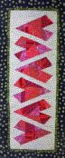 Crazy Hearts Table Runner sewing pattern Cut Loose Press 2