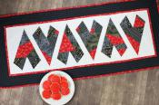 Crazy Hearts Table Runner sewing pattern Cut Loose Press 3