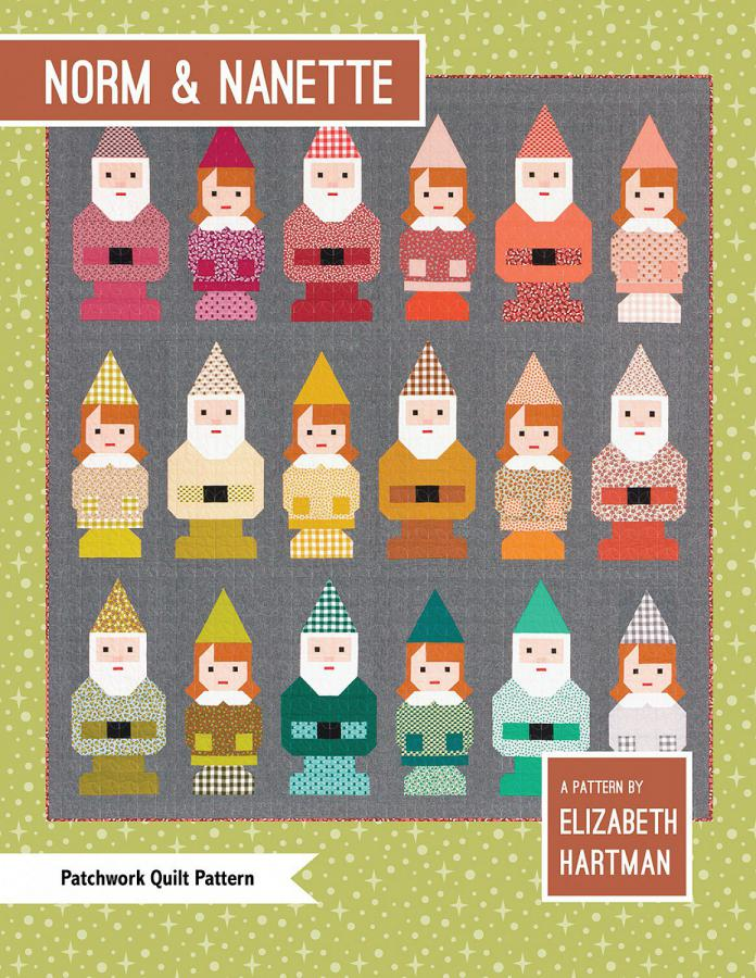 Norm & Nanette Gnomes quilt sewing pattern by Elizabeth Hartman