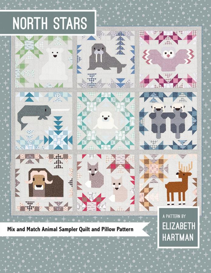 North Stars quilt sewing pattern by Elizabeth Hartman