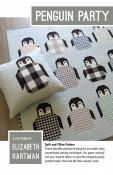 Penguin Party quilt sewing pattern by Elizabeth Hartman