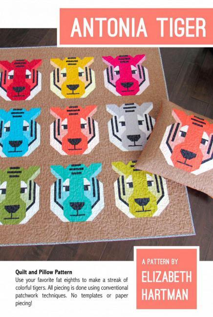 Antonia Tiger quilt sewing pattern by Elizabeth Hartman