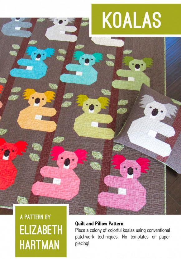 Koalas quilt sewing pattern by Elizabeth Hartman