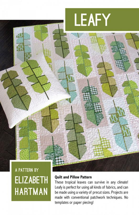 Leafy quilt sewing pattern by Elizabeth Hartman