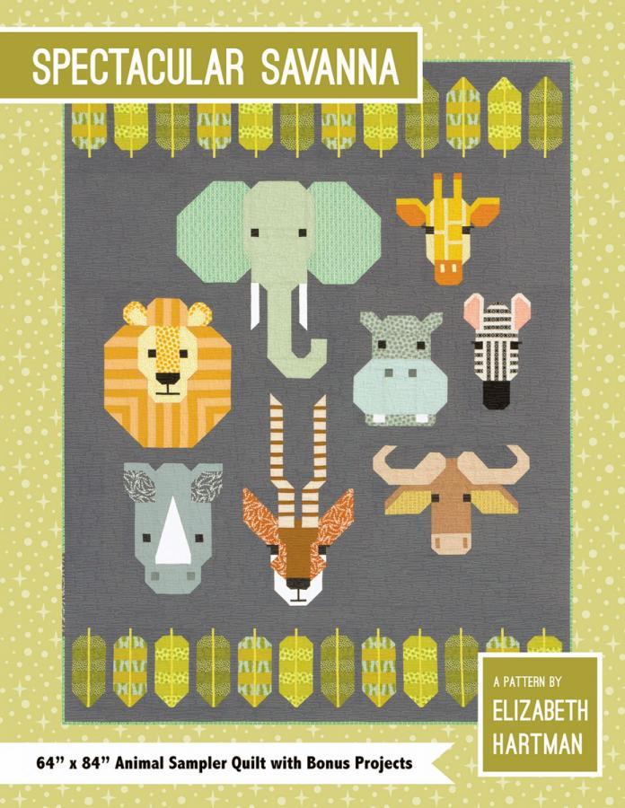 Spectacular Savanna quilt sewing pattern by Elizabeth Hartman