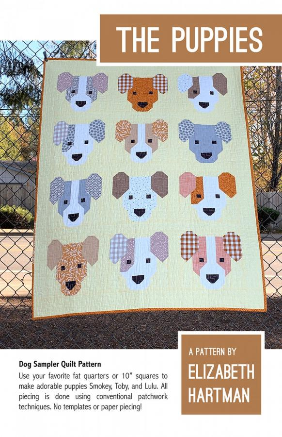 The Puppies quilt sewing pattern by Elizabeth Hartman