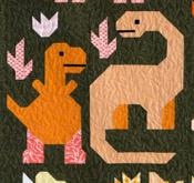 Dinosaurs quilt sewing pattern by Elizabeth Hartman 3
