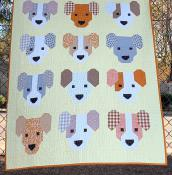 The Puppies quilt sewing pattern by Elizabeth Hartman 2