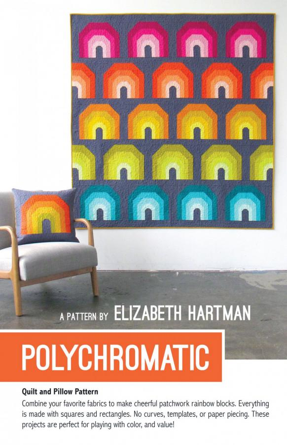 INVENTORY REDUCTION...Polychromatic quilt sewing pattern by Elizabeth Hartman